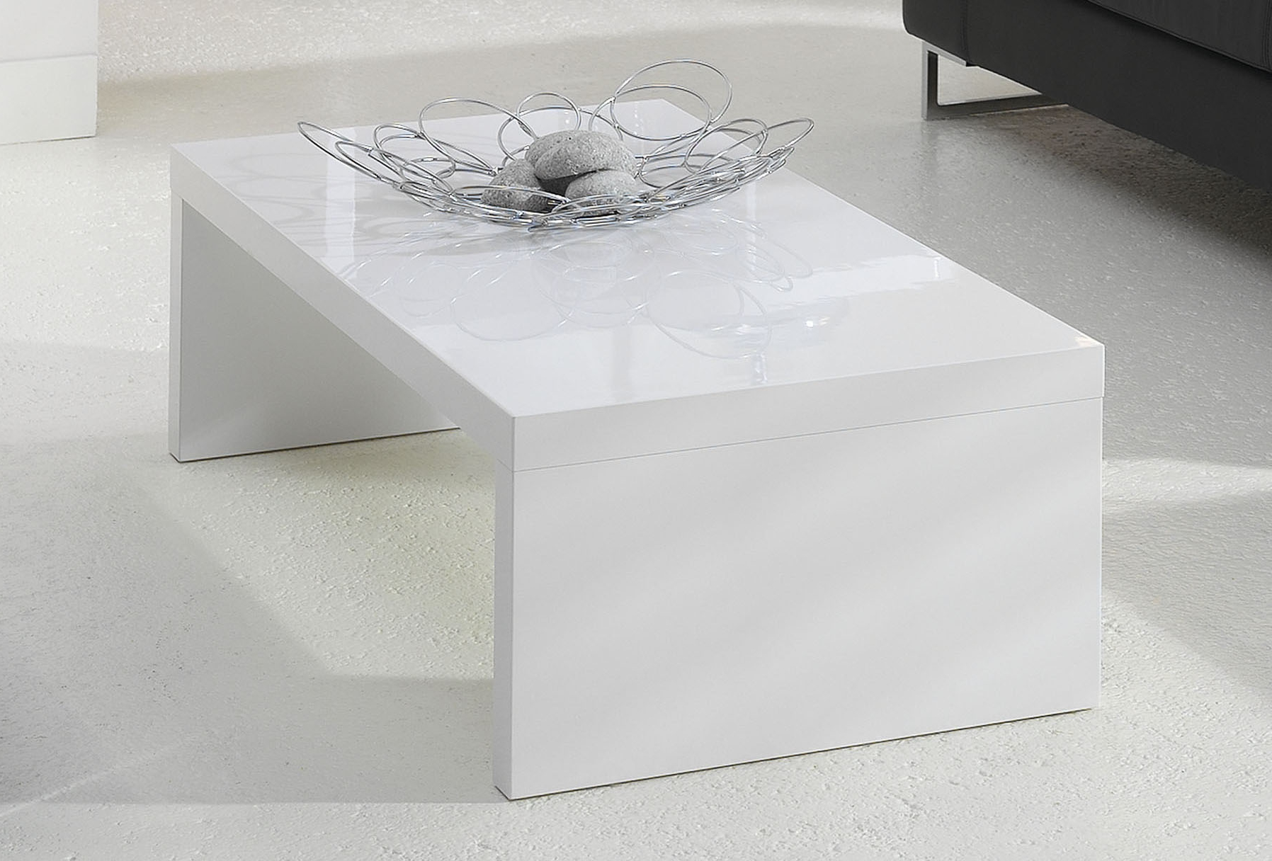 Table basse blanc laqu rectangulaire images - Table basse laquee blanc ...