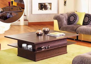 Table basse bar avec tablette amovible