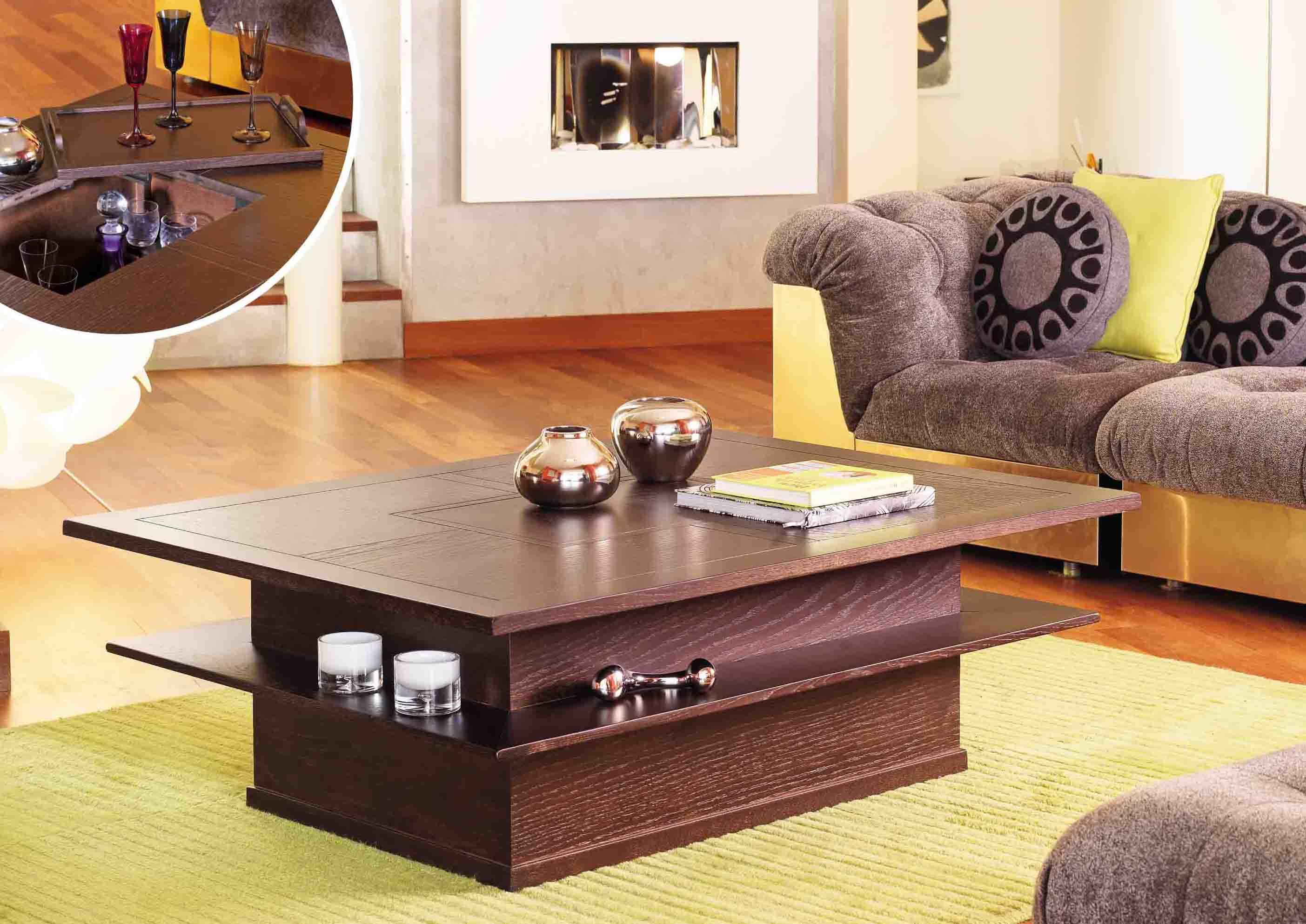 Table basse bar ma table basse - Table basse avec tablette ...