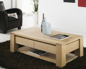 Table basse en bois ma table basse for Table salon bois massif