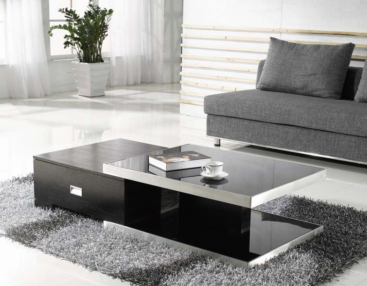 table basse moderne de salon. Black Bedroom Furniture Sets. Home Design Ideas