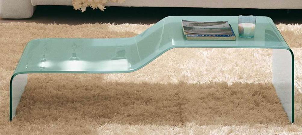 Table basse en verre à 2 niveaux
