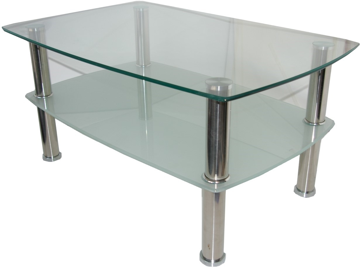 Table basse amovible en verre for Table en verre but