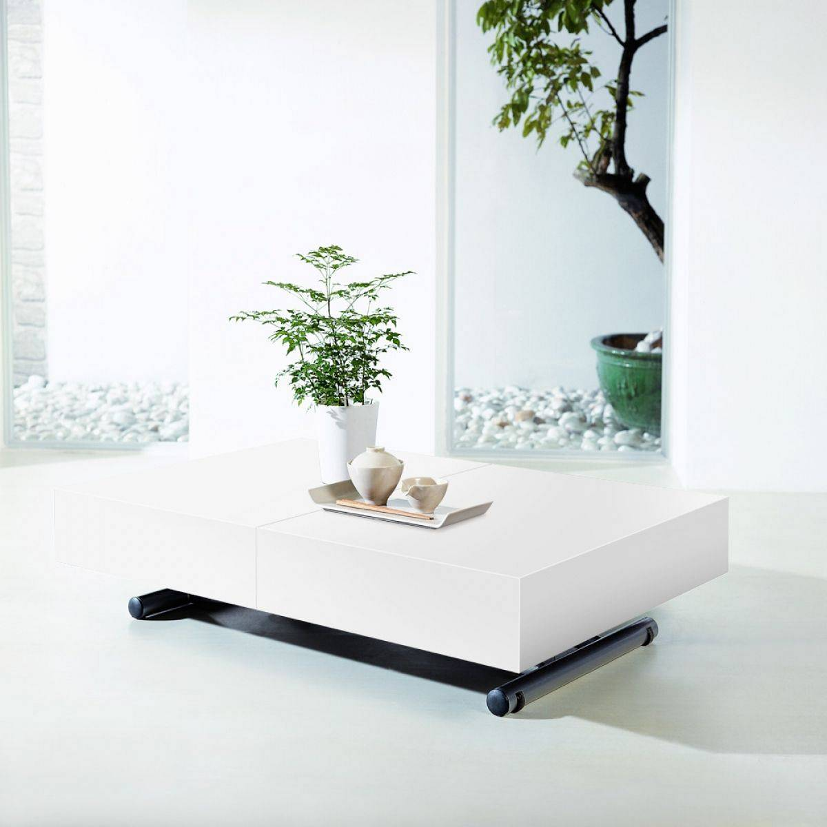Table basse relevable ma table basse - Table de salon convertible ...