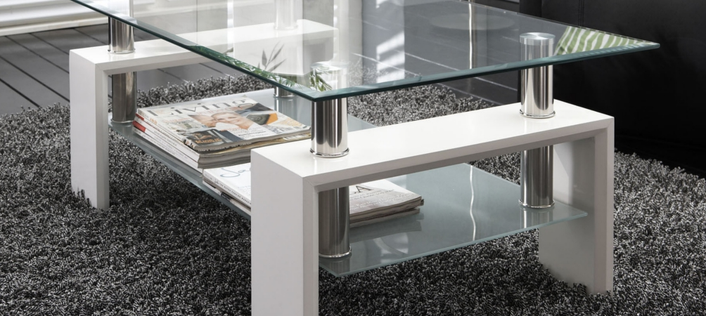 Table basse Visby en verre