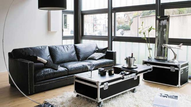 table basse avec pouf maison du monde. Black Bedroom Furniture Sets. Home Design Ideas