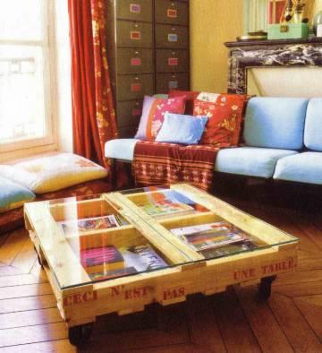 Customisez votre table basse en bois - Idees table basse palettes ...