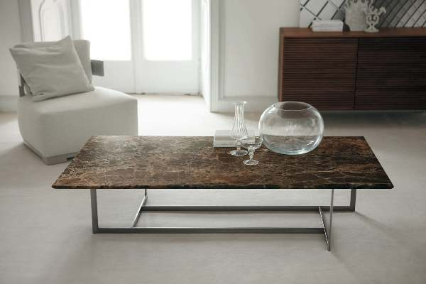 Misez sur la table basse en pierre pour plus d 39 originalit - Tables basses contemporaines ...