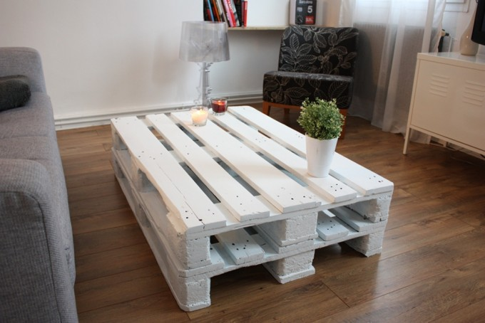 diy la table basse avec des palettes de bois. Black Bedroom Furniture Sets. Home Design Ideas