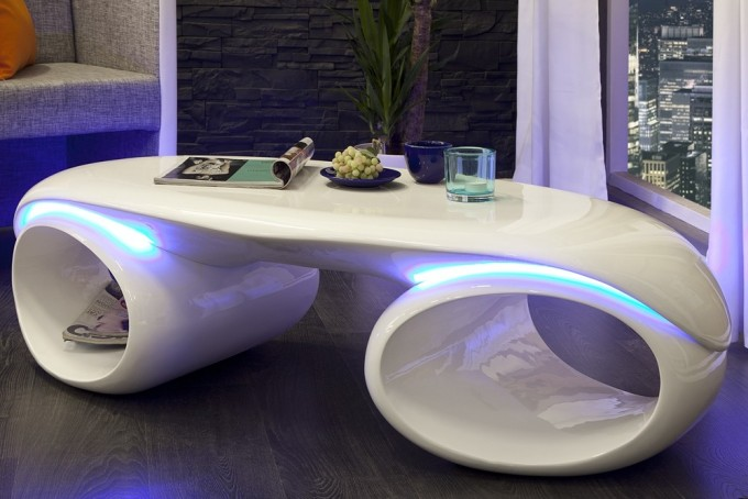 5 id es de tables basses originales pour le salon for Designer couchtisch led
