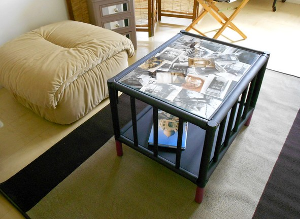 Comment decorer sa table de salon Table basse personnalisee photo