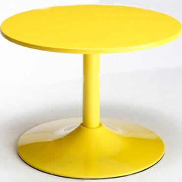 quel style de table basse pour un salon jaune?