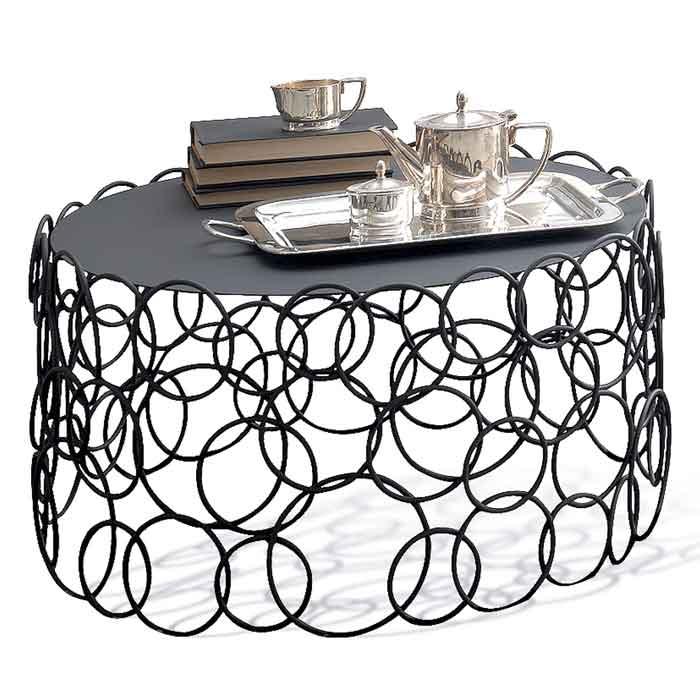 Table basse design en fer forgé