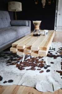 table basse en palette de bois