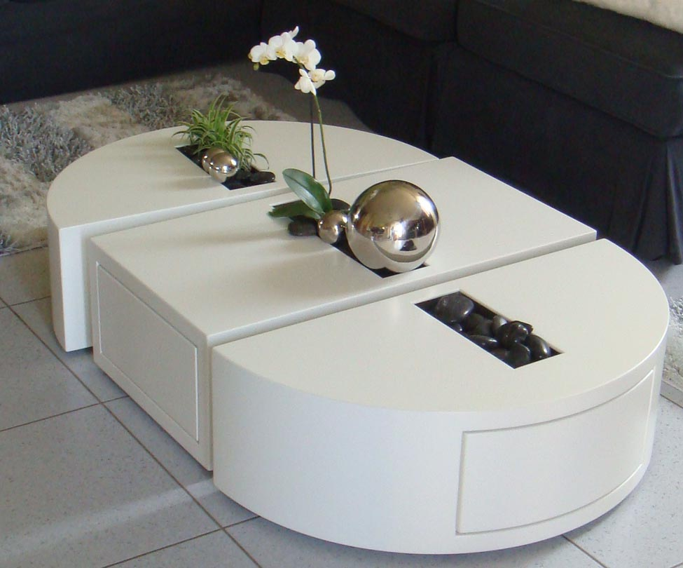 Table basse un v ritable objet de d coration - Decoration table salon ...