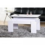OPEN Table basse plateau relevable blanc
