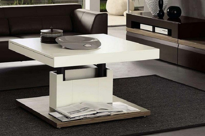interesting le mcanisme duune table basse relevable with nettoyer table en verre. Black Bedroom Furniture Sets. Home Design Ideas